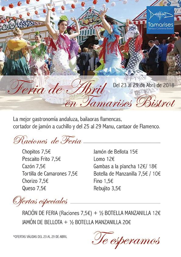 Cartel Feria de Abril en Tamarises Bistrot